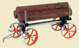 Mamod Trailer for Traction Engine with three logs and chains